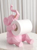 Nordic simple elephant roll paper frame decoration creative living room desktop tissue box home kitchen napkin holder