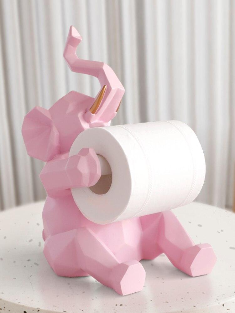 Nordique simple éléphant rouleau papier cadre décoration créative salon bureau boîte à mouchoirs maison cuisine porte-serviettes