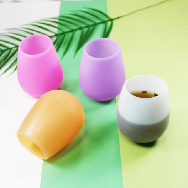 Unbreakable Flexible Anti-Slip Silicone Wine Glass