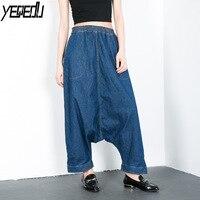 #1015 Autumn Loose Big Size Jeans For Women High Waisted Streetwear Harem Hip Hip Wide Leg Jeans Feminino Ankle Length Fashion