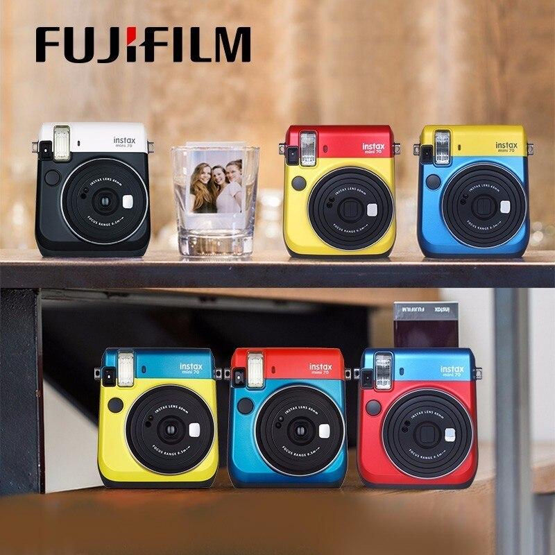 6 couleurs bloquant l'appareil Photo instantané Fujifilm Instax Mini 70 rouge noir bleu jaune or blanc