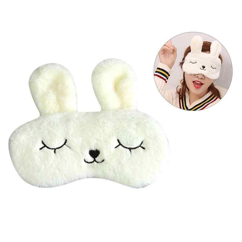 Rabbit Mewah Penutup Mata Dingin Kompres Panas Tidur Masker Mata Menutupi Lucu Pelindung Mata Mata Patch (Mengkilap Kelinci Putih)