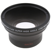 58Mm 0.43X Wide Angle Hd Fisheye Lens For Canon 60D 1000D Rebel T6