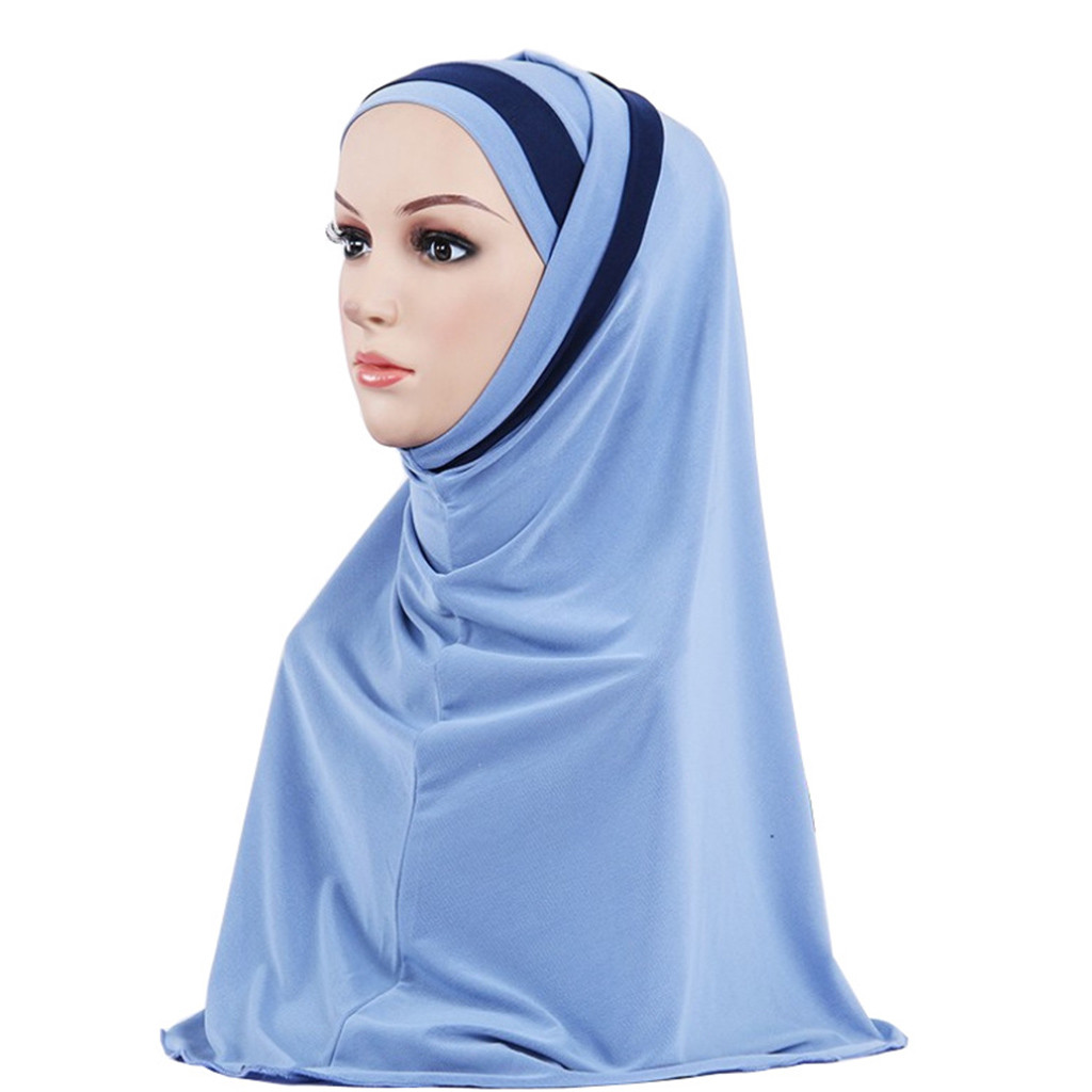 Muslim New Women Sjaals Voor Dames Hijab Double Loop Slip On Scarf Pull Over Crepe Convenient Shawl Headscarf