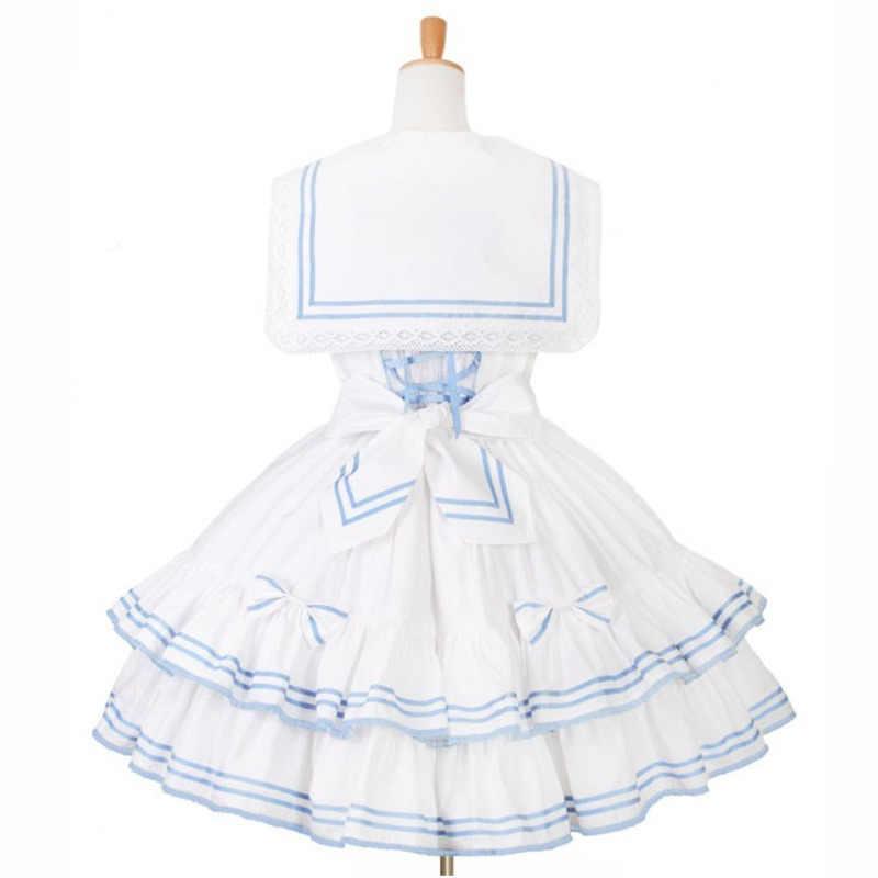 Японский Стиль Мори девушка Лолита платье матросский воротник Kawaii милый лоскутное цвет принцесса костюм горничной сценическое бальное платье по индивидуальному заказу