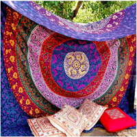 2017 New Europe Exotic Geometric Large Mandala Indian Tapestry Sunscreen Square Shawl Digital Print Beach Towel Retro Tapestry