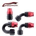SPEEDWOW AN10 Алюминиевый Поворотный 0/45/90/180 градусов PTFE конец шланга многоразового использования PTFE фитинг адаптер для масла топлива PTFE шланг