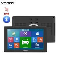 XGODY X4 9 Inch Car GPS Navigation Bluetooth Truck Navigator 128MB 8GB GPS Auto Sat Nav TF FM Navitel US AU 2018 EU Free Map
