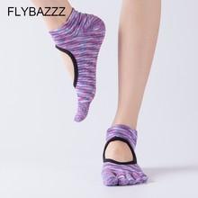 Women Yoga Socks Backless Five Fingers Socks Gym Fitness Sport Pilates Dance Socks Ballet Non Slip Cotton Socks Woman Newest цены онлайн