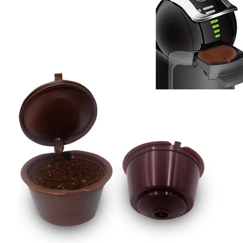 1Pcs Reusable Dolce Gusto Coffee Capsule,Plastic Refillable Compatible Dolce Gusto Coffee Filter Baskets Capsules Dropshipping