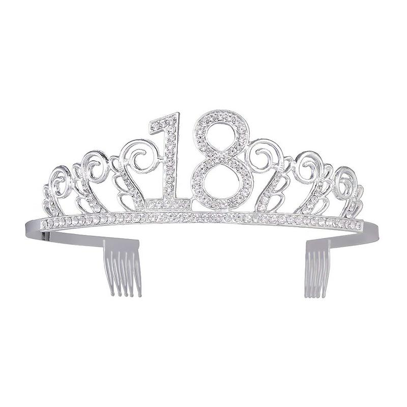 2019 New Birthday Crown Digital Hat Rhinestone Hair Bride