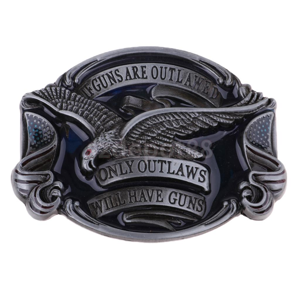 American Men Soaring Eagle Belt Buckles Western Cowboy Jeans Accessories For Boys