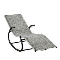 SoBuy® OGS41 MS Outdoor Garden Rocking Relaxing Chair Recliner Lounge Chair Sun Lounger
