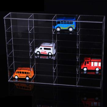 27x 8x37 mm 20 Slots Acrylic Display Box Showcase Display Shelf Storage Protection Case for Toy Car Mini Model