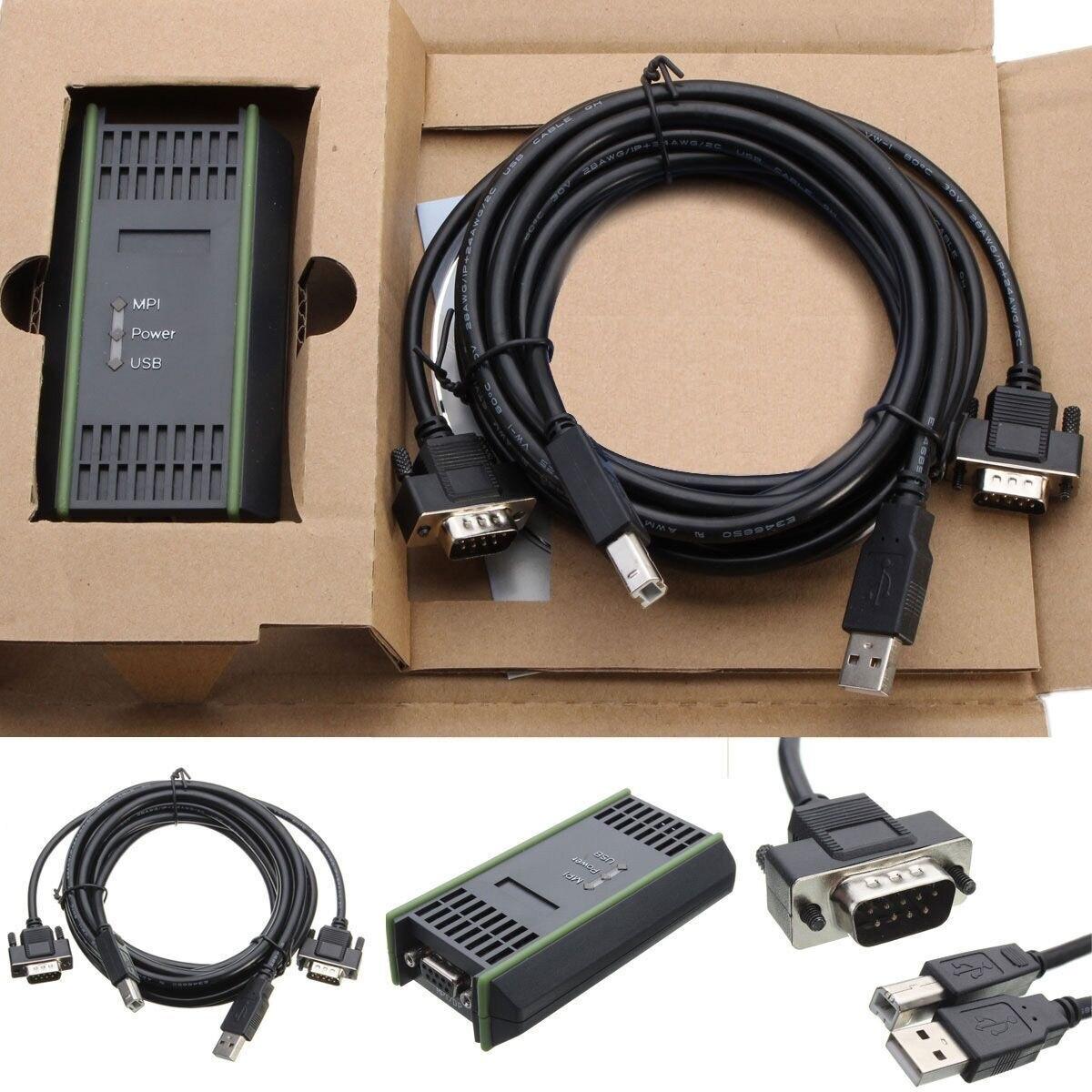 PC Adaptador USB Cabo Adaptador Para Siemens S7-200/300/400 RS485 Profibus/MPI/PPI 9- pin Substituir para Siemens 6ES7972-0CB20-0XA0