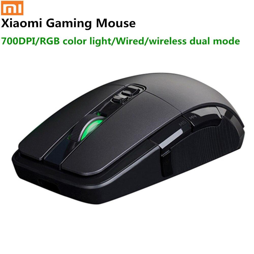 Original Xiaomi souris de jeu sans fil USB 2.4 GHz 7200 DPI Pubg RGB rétro-éclairage souris d'ordinateur Rechargeable Gamer optique