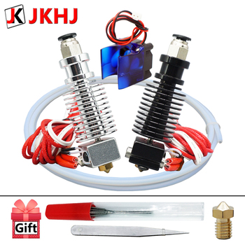 Free Shipping E3D V6 hotend Kit 3D Printer Partse Remote extruder 1.75/0.4mm Nozzle 12V/24V j-head with Cooling Fan Teflon tube 3d printer parts cyclops 2 in 1 out 2 colors hotend 0 4 1 75mm 12v 24v fan bowden with titan bulldog extruder multi color nozzle