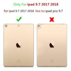 Image 5 - Coque pour iPad 9.7 2018, coque de sommeil automatique Ultra mince, pour iPad 9.7 pouces, 2017 et 2018, version A1823, A1893, A1954, avec film et stylo