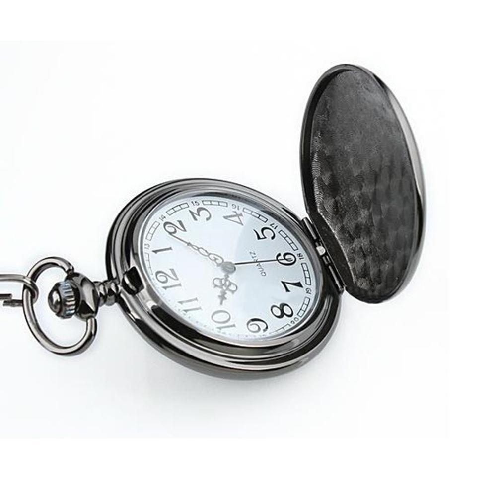 Wholesale Watch Retro Vintage Men Steampunk Smooth Surface Pendant Chain Classic Pocket Watch Pocket Watch Watch