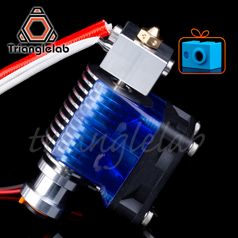 Trianglelab Highall-metal V6 Hotend 12V/24V Remote Bowen Print J-head Hotend  And  Cooling Fan Bracket For E3D HOTEND For PT100(China)