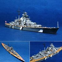 1/700 масштаб Второй мировой войны Германия морской военный корабль км Бисмарк линкор комплект модели корабля игрушка-корабль Пластик Модель...