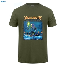 GILDAN  Megadeth Rust In Peace 20th Anniv Tour Black T Shirt SMALL New Official NOS Sleeve Tee Homme T-shirt Top Tees (2)