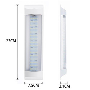 Image 3 - 4 sztuk 72LED wewnętrzna lampka Tube dodatkowa lampa LED do samochodu lampa 24V biały pasek świetlówka przełącznik dla Auto Caravan Trailer/RV części