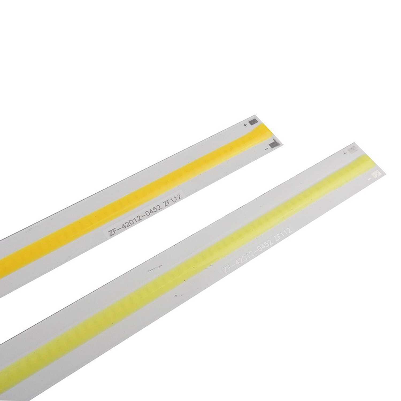 5 Pcs 420*12 Mm Light LED COB Strip Tube 20 W CRI 12 V Diode Warm White /Putih Biru untuk Mobil Perahu Sumber Cahaya DIY Lampu Bohlam JQ