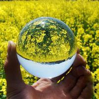 Crystal Ball Art Decor Crystal Prop Sphere For Photography Wedding Home Decoration System Ball 3D Miniature Planets Model