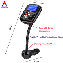 DAB Receiver+Bluetooth Hands-free FM Transmitter Car Kit LCD screen DAB+ Antenna Two USB Charger Port for all cars