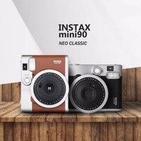 Fujifilm Подлинная Instax Mini 90 плёнки камера Лидер продаж новый мгновенный фото 2 цвета чёрный; коричневый
