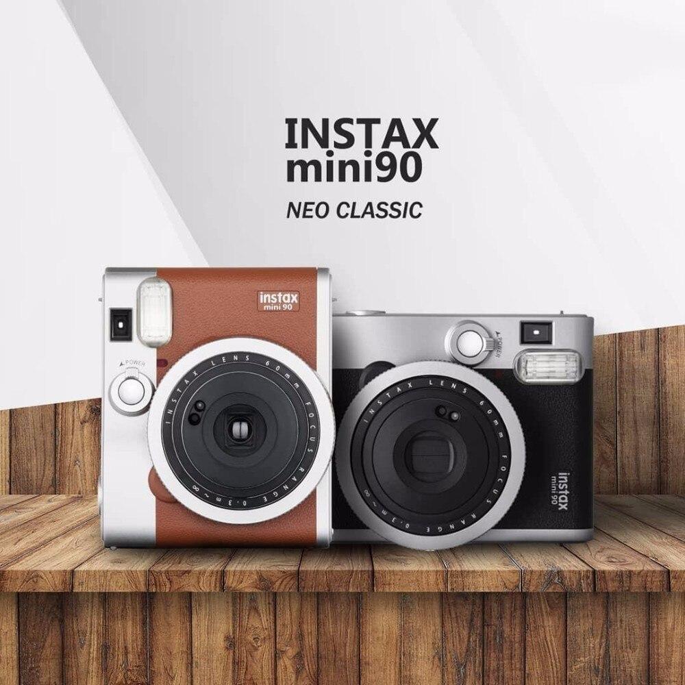 Fujifilm Véritable Instax Mini 90 films caméra offre spéciale nouveau instant photo 2 Couleurs noir brun