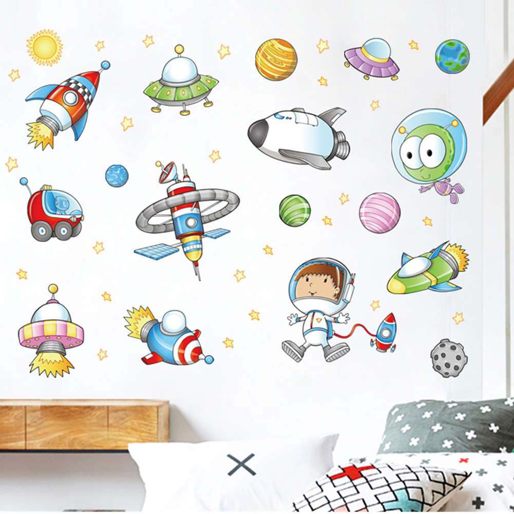 Alien Space Set highest quality wall decal stickers
