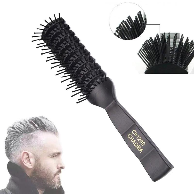New Portable Men Anti-static Hair Comb Brush Professional Hair Care Ribs Comb High Quality Durable Anti-static Light Weight Soft