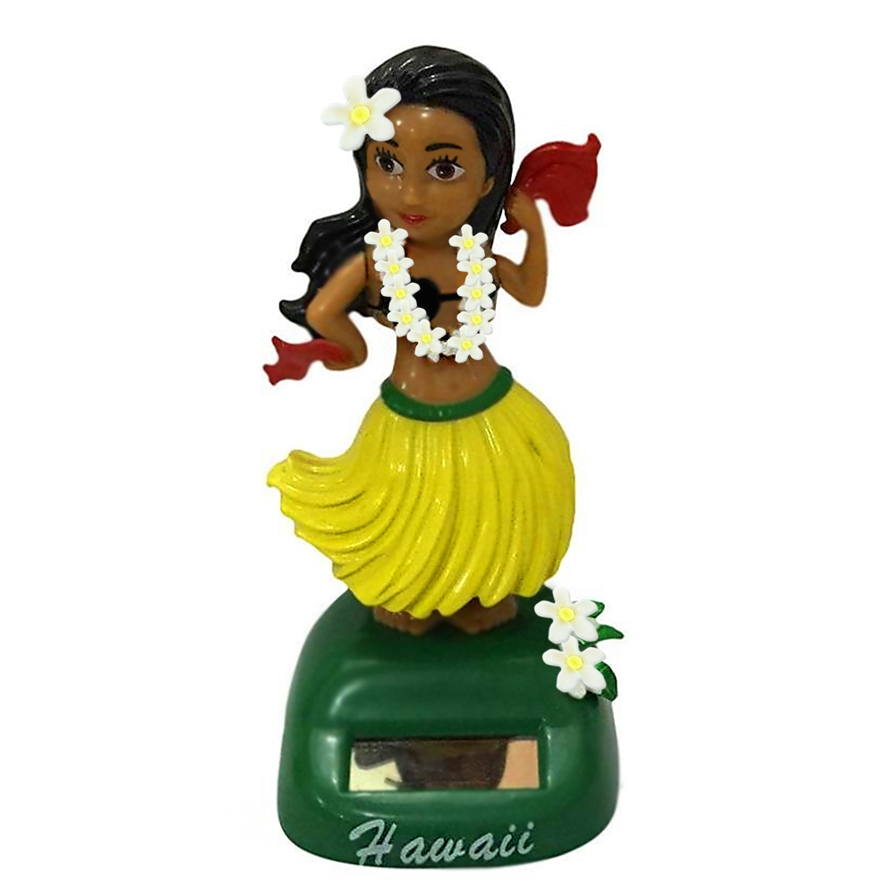 Hawaii Girl Solar Powered Dancing Animated Dancer Toy DIY Crafts Sculptures Car Table Desk Decoration