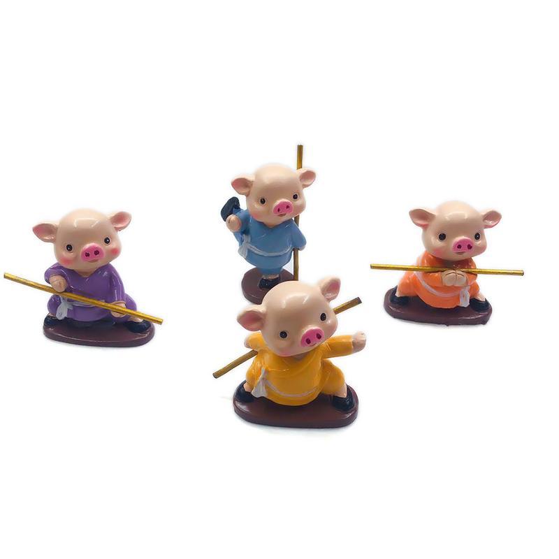Collection mignon cochon décoration de la maison accessoires fée jardin Miniature animaux Figurines voiture décor de bureau cadeau d'anniversaire