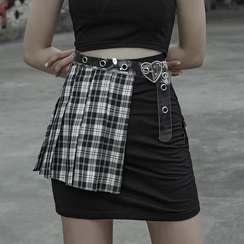 Punk Rave Women's Goth Plaid Skirt Waist Belt PS135