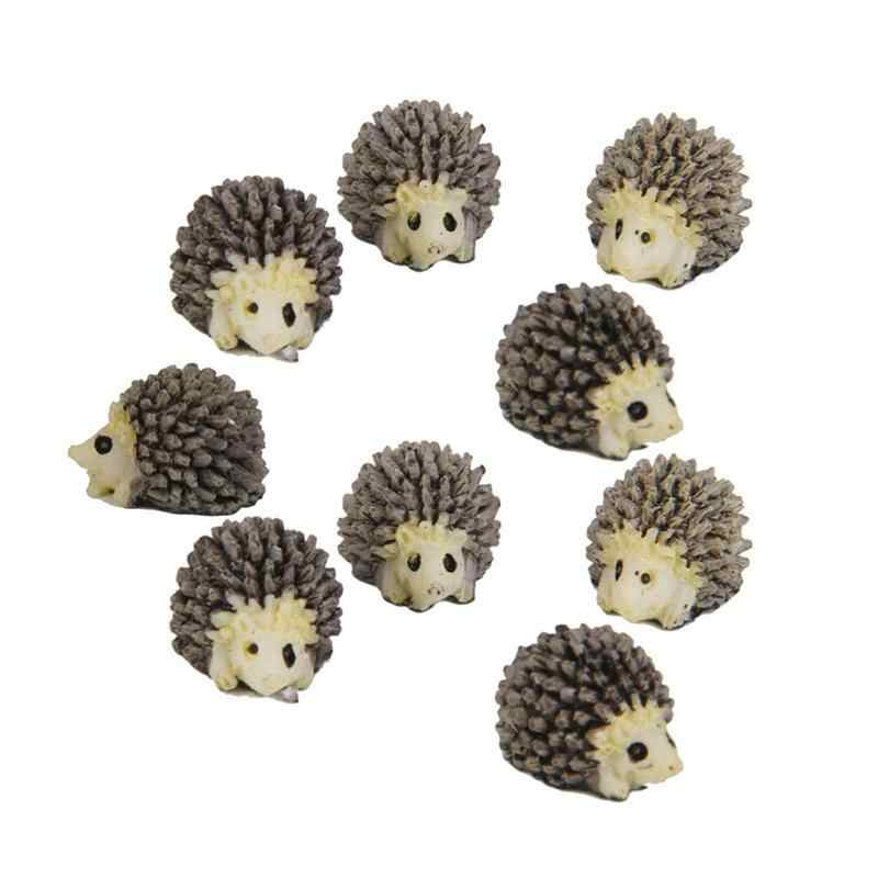 WINOMO 10pcs Miniature Hedgehog Landscape Garden Decoration Ornaments