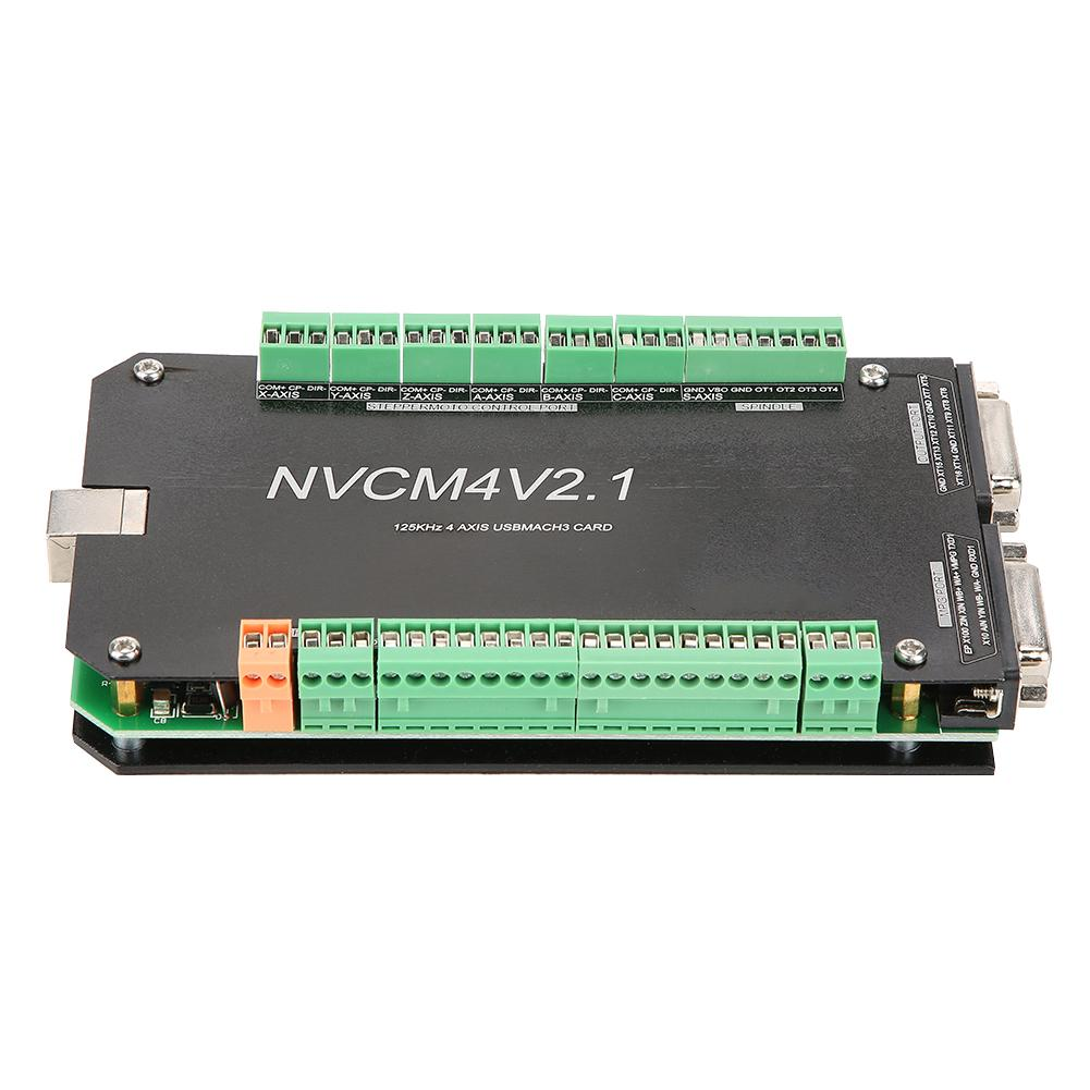 Image 4 - New NVCM 4 Axle CNC Controller MACH3 USB Interface Board Card for Stepper Motor New High Quality-in Motor Driver from Home Improvement
