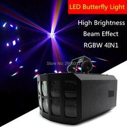 RGBW LED podwójny motyl światła/DMX512 Derby Club Party światła sceniczne/efekt wiązki oświetlenie sceniczne/Disco DJ KTV dekoracji lampa LED w Oświetlenie sceniczne od Lampy i oświetlenie na