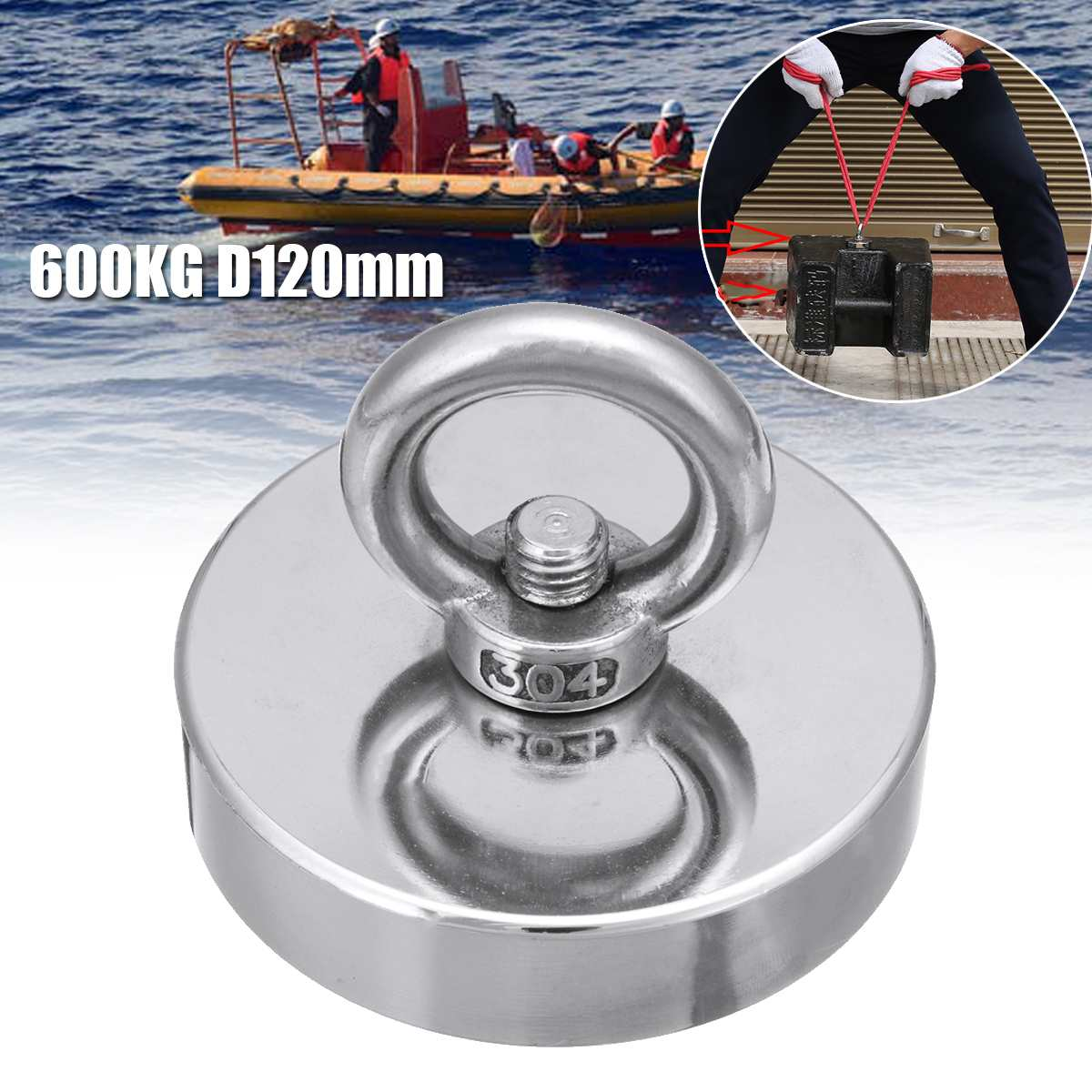 D120mm D90mm -25mm Strong Neodymium Magnet  fishing Salvage Search Magnetic Material Deap Sea Recovery Treasure Hunting MagnetD120mm D90mm -25mm Strong Neodymium Magnet  fishing Salvage Search Magnetic Material Deap Sea Recovery Treasure Hunting Magnet