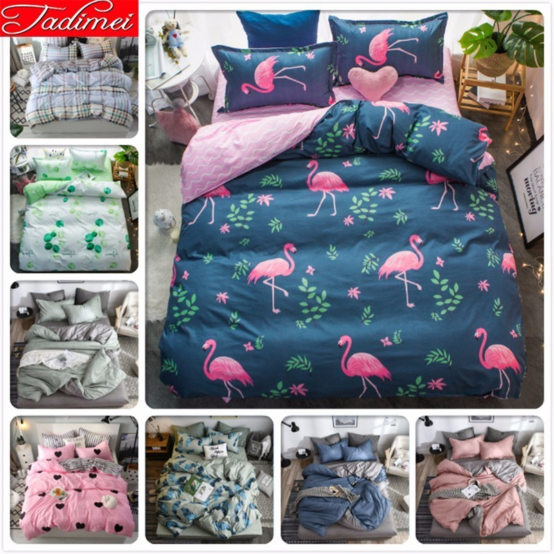 Tropical Flamingo Pattern Blue Pink Duvet Cover Bedding Set Adult Kids Child Soft Cotton Bed Linen Single Twin Queen King SizeTropical Flamingo Pattern Blue Pink Duvet Cover Bedding Set Adult Kids Child Soft Cotton Bed Linen Single Twin Queen King Size