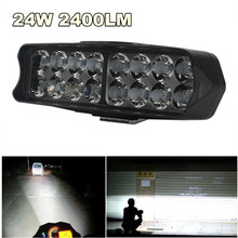 Универсальная Светодиодная панель рабочего освещения 24 Вт 2400 лм, противотуманные фасветильник, фары дальнего света для автомобиля, грузови...