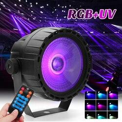 30 W luz llevada de la etapa de Control remoto RGB + UV Autopropulsado/voz/DMX512 para DJ bar Party Bar Iglesia 90-240 V ee.uu./enchufe de la UE