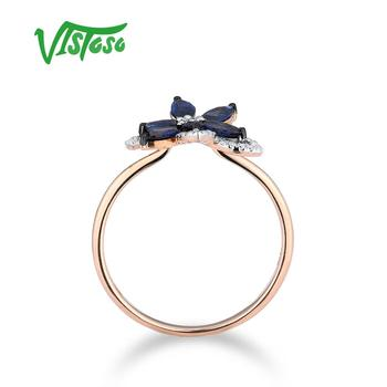 585 Rose Golden Ring with Blue Sapphire 2