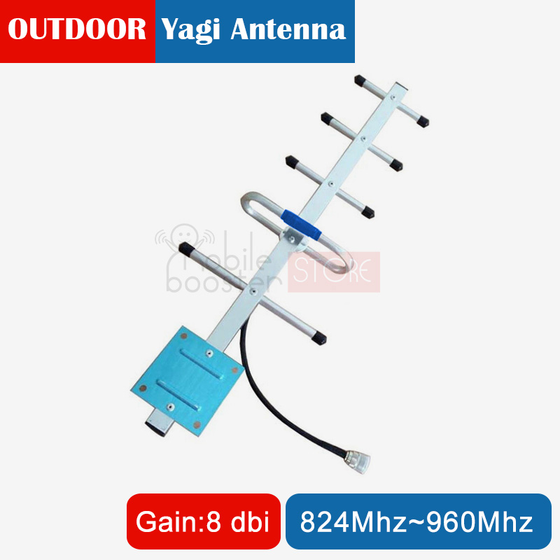 824-960MHz 8dBi Yagi <font><b>Antenna</b></font> <font><b>MHz</b></font> CDMA <font><b>800</b></font> 850 GSM 900 Outdoor <font><b>Antenna</b></font> with N Female Connector for Mobile Signal Booster image