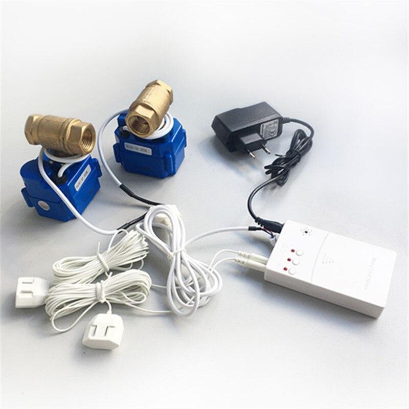 HIDAKA WLD-807 (DN20*2 uds) calidad japonesa nuevos productos sistema de alarma de control de fugas de agua detector de fugas de agua con válvula BSP NPT Válvula de bola electrónica con pantalla LCD para hogar, 2 uds., temporizador de agua para riego del jardín, sistema controlador de temporizador