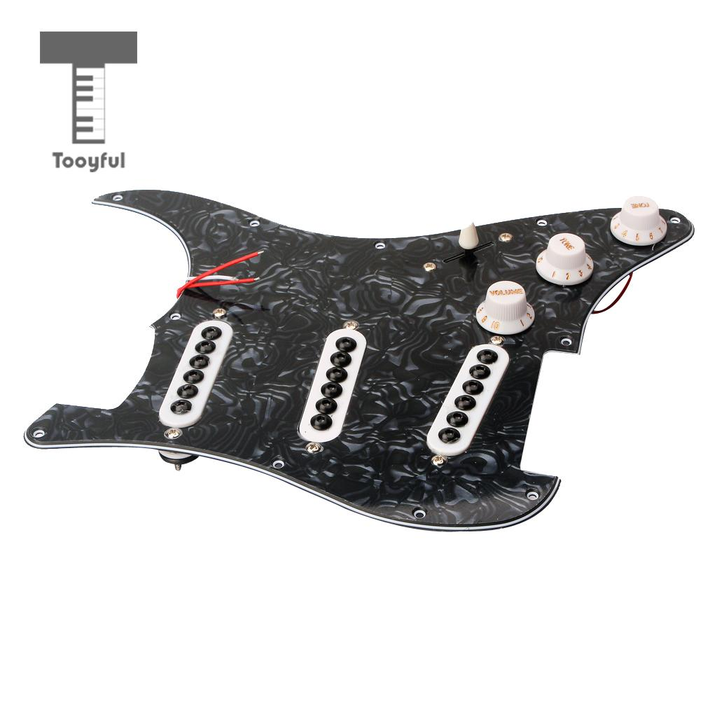 Tooyful SSS Loaded Prewired Pickguard 3 Pcs Single Coil Pickup for Electric Guitar