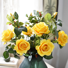 Simulated Rose Fake Silk Flower High Garden Forest Home Decoration Living Room bouquet