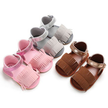 Pudcoco Summer Toddler Kids Children Infant Baby Girl Tassel Shoes Soft Sole Cute Sandals 0-18M Hot 2019